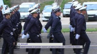 14 juillet : Répétitions à Satory avant le défilé sur les Champs-Elysées