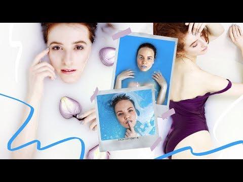 Фотосессия в цветной воде в ванной | Идеи для фото в Instagram