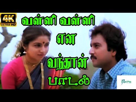 Valli Valli Ena Vanthan    வள்ளி வள்ளி என வந்தான்     Ilaiyaraaja, S. Janaki Love Duet H D Song
