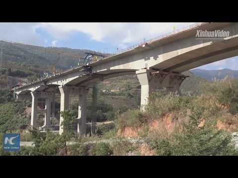 Another railway bridge finishes closure along China-Laos Railway