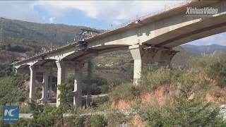 Another railway bridge finishes closure along China-Laos Railway