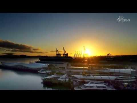 auckland port sunrise & sunset