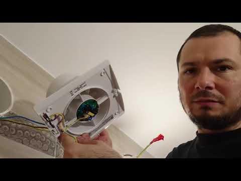 Вентилатор за баня с кабел за бойлер