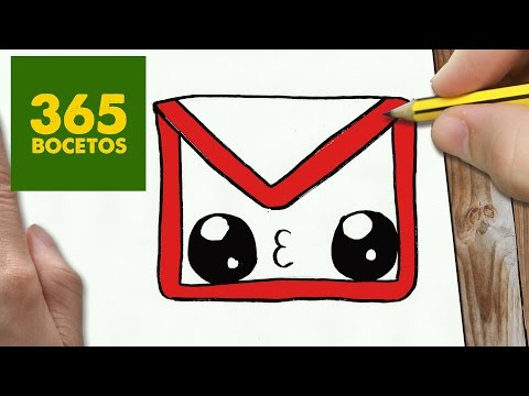 Como Dibujar Logo Gmail Kawaii Paso A Paso Dibujos Kawaii Faciles