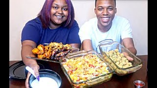 CHICKEN WINGS MUKBANG! | HOMEMADE CHICKEN WINGS & RANCH | EATING SHOW | FRITZ FAMILY ENT.