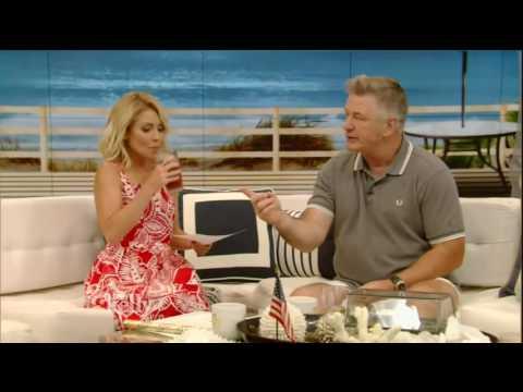 Live! With Kelly co host Alec Baldwin 6/10/16 Dwayne Johnson ; Aaron Tveit (June 10, 2016)
