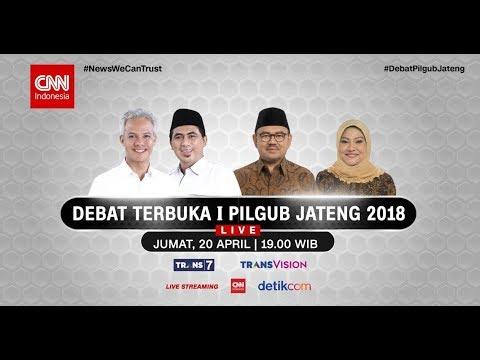 Live! Debat Terbuka I Pilgub Jateng 2018