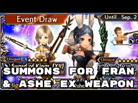 Summons for Fran & Ashe EX Weapon - DFFOO - Dissidia Final Fantasy: Opera Omnia from YouTube · Duration:  13 minutes 10 seconds