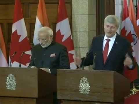 Press Statements on Signing of Agreements between India & Canada : 15.04.2015