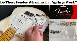 Do These Fender Whammy Bar Springs Work? AND a Spring Giveaway