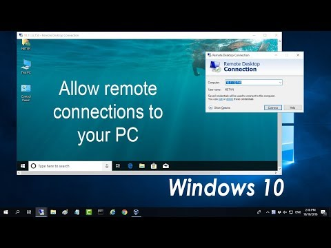 Windows 10 : Allow remote connections to your PC - Remote Desktop