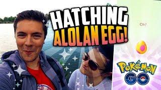 Pokemon Go - RANDOM SHINY + HATCHING NEW 7K ALOLAN EGG! (NEW Pokemon Go Alolan Pokemon!)