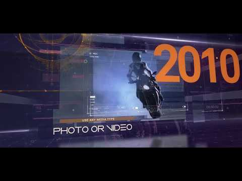 Techno Time 2049 Media Opener - After Effects template - 동영상