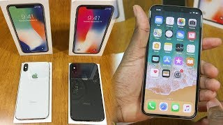 iPhone X: Space Gray & Sliver Unboxing • First Impressions! (Color Comparison)