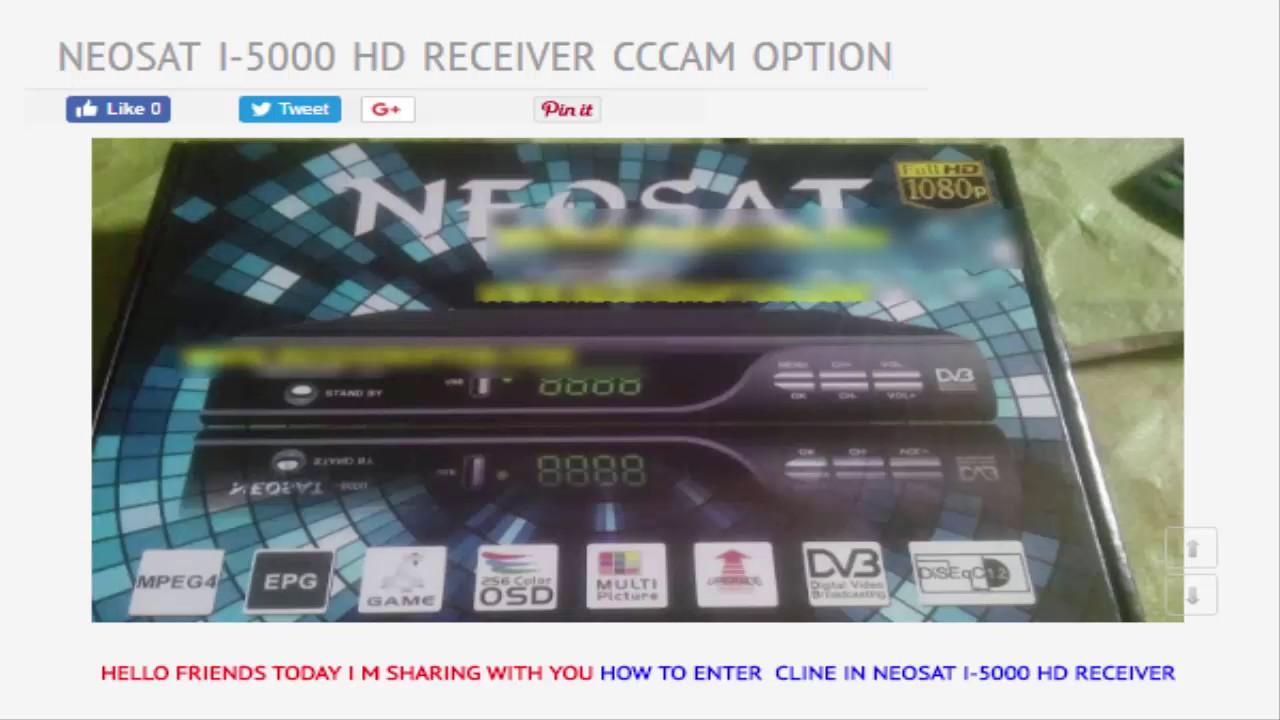 NEOSAT I 5000 HD RECEIVER CCCAM OPTION