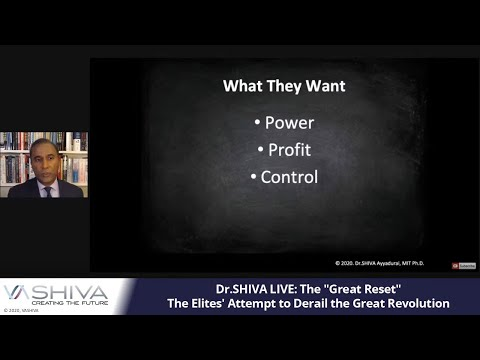 """Dr.SHIVA LIVE: The """"Great Reset"""": The Elites' Attempt to Derail the Great Revolution"""