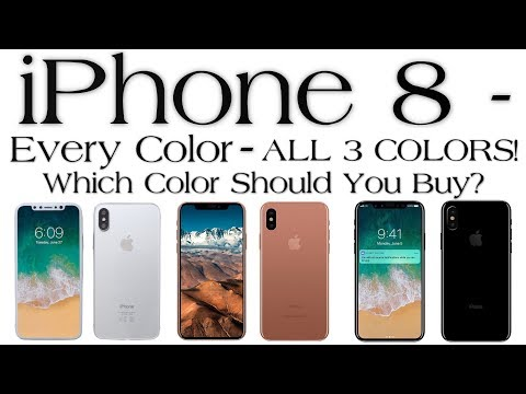 iPhone X/iPhone 8 - Hands-On ALL 3 COLORS Which Color Should You Buy?
