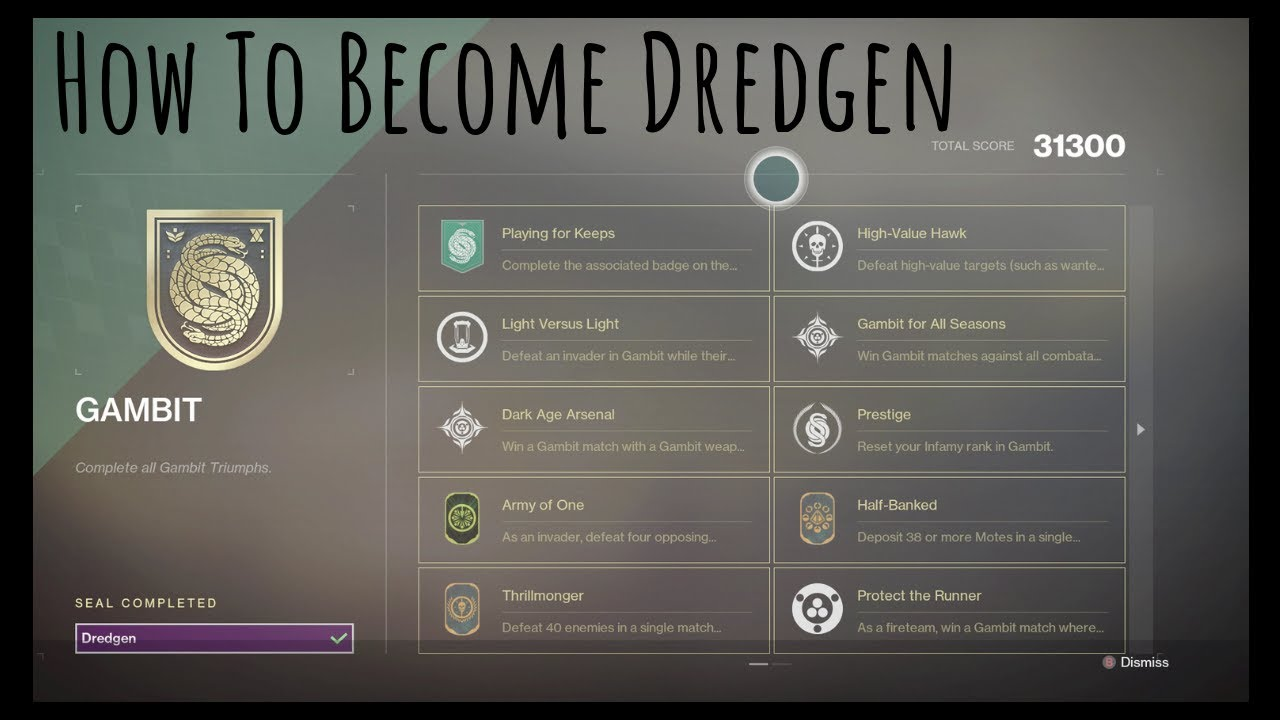 How to become Dredgen (Destiny2)