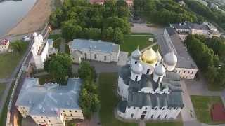 Великий Новгород, Софийский собор и звонница(Облет Софийского собора и звонницы., 2015-06-20T21:33:37.000Z)