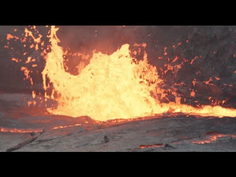 Water thrown into lava lake creates explosive results