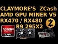 Claymore's v5 ZCash AMD GPU Miner WIndows RX470 RX480 R9 295x2
