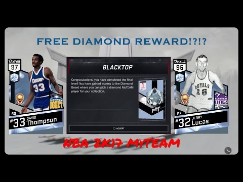 Level 10 Blacktop Reward Diamond Jerry Lucas Gameplay | NBA 2K17 MyTEAM All Around Threat!
