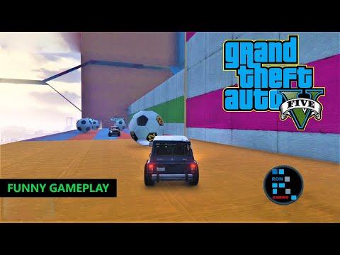 GRAND THEFT AUTO V | FUNNY GAMEPLAY, CAR PARKOUR