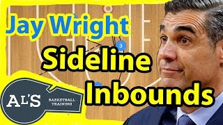 Jay Wright Basketball Sideline Inbounds Play