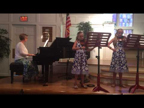 Special music at the Brunswick church in Maine