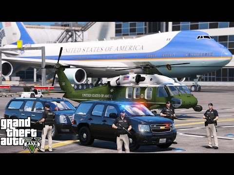 GTA 5 Presidential Mods | Saving The President Of The United States From All Hell Breaking Loose