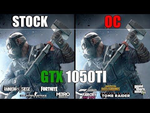GTX 1050Ti Stock vs. OC (Stock vs. Overclocked) Test in 9 Games in 2019