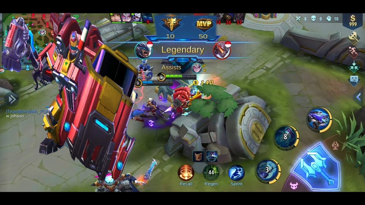 FULL OPEN MAP TOP 1 JOHNSON GAMEPLAY - top global johnson combo skill | MOBILE LEGENDS