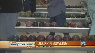 Duckpin bowling at Victory Lanes in Portsmouth