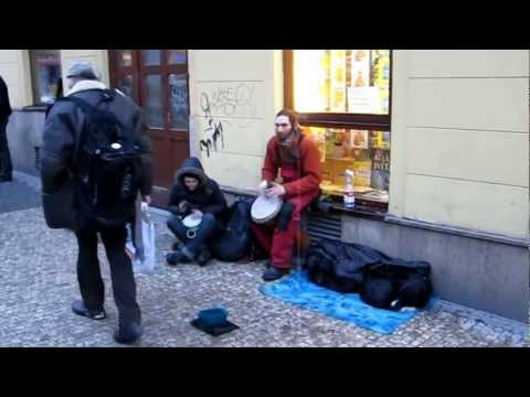Street performance in Prague