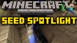MC Xbox 360: SEED SPOTLIGHT #7 - STRONGHOLD IN RAVINE, 4 MONSTER SPAWNERS, & 14 RAVINES (1.8.2)