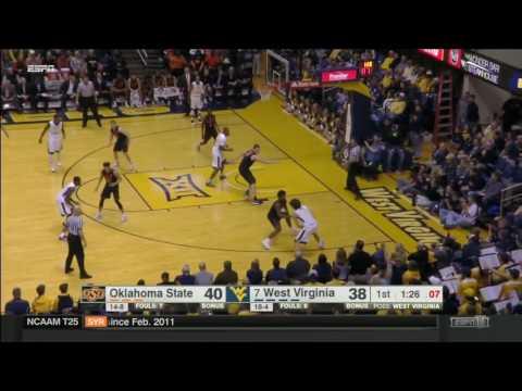 Oklahoma State at West Virginia | 2016-17 Big 12 Men's Basketball Highlights