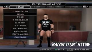 How to create Finn Balor in SvR 2011 PS2