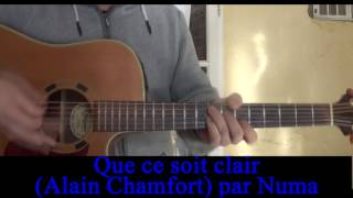 Watch Alain Chamfort Que Ce Soit Clair video