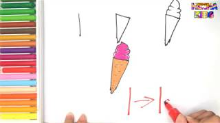 How To Draw and Color a Icecream Easy Steps By Step ✅How To Teach Baby To Speak English