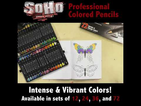 Professional Artist Colored Pencils - Intense & Vibrant - SoHo