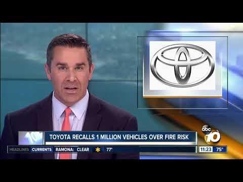 Toyota recalls 1 million vehicles over fire risk