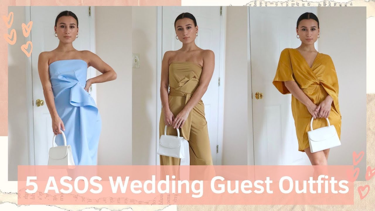 UNDER $50 ASOS Wedding Guest Outfits | Try-on HAUL | Jordan Batitto