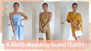 UNDER $50 ASOS Wedding Guest Outfits   Try-on HAUL   Jordan Batitto