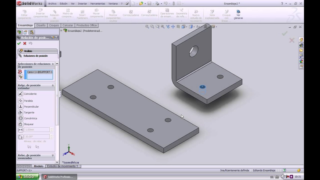 Solidworks 27 dise o de piezas mec nicas para ensamble for Programas de diseno de planos