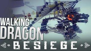 Walking Dragon! | Balloon Bomber | Train | Besiege Alpha Sandbox War Machines
