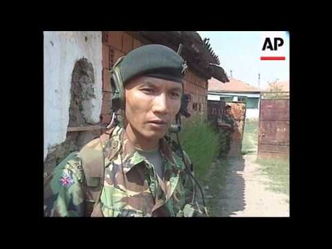 KOSOVO: GURKHAS END THEIR TOUR OF DUTY