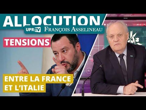 Tensions entre la France et l'Italie - Allocution de François Asselineau