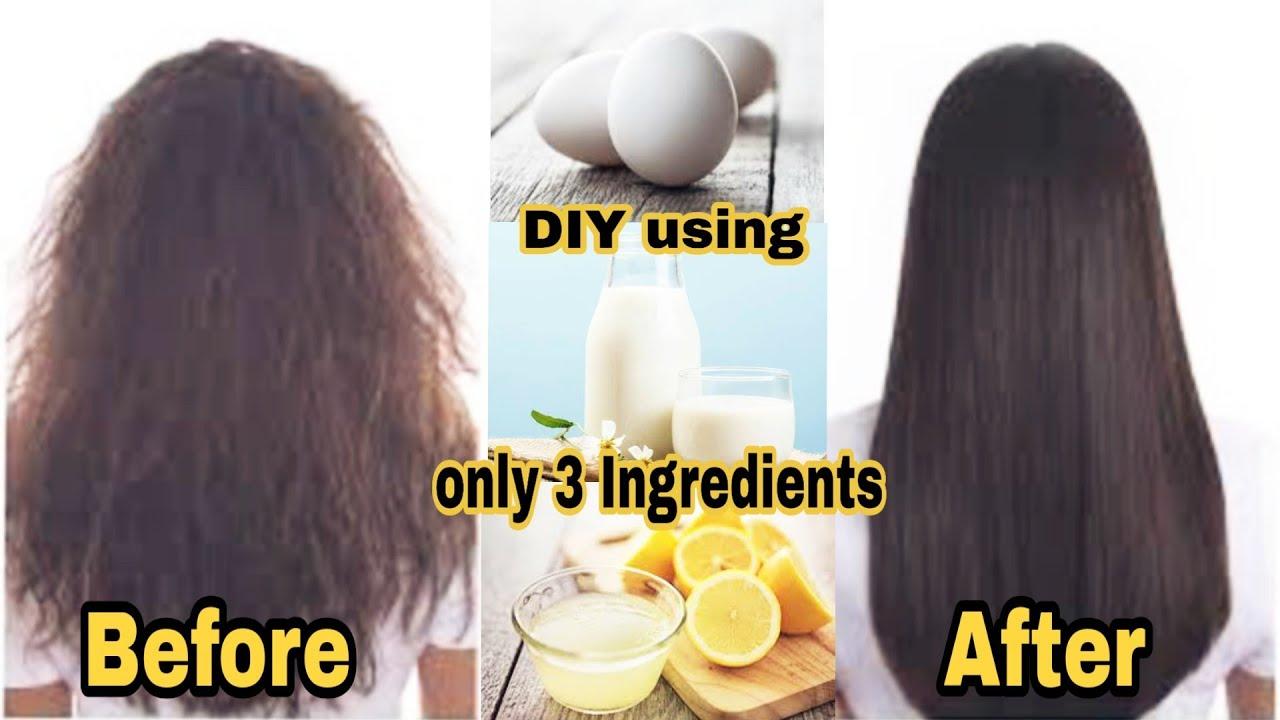 Diy Natural Keratin Treatment At Home Straight Smooth Shiny Frizz Free Hair Under 150 Youtube