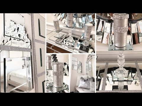 Dollar Tree DIY Mirror Wall Decor | DIY Glam Candle Holder Set