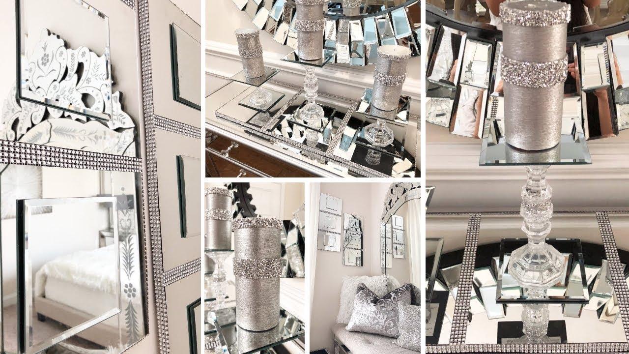 Dollar Tree DIY Mirror Wall Decor | DIY Glam Candle Holder ...
